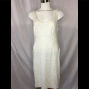 Suzi Chin White sequin lined bodycon dress